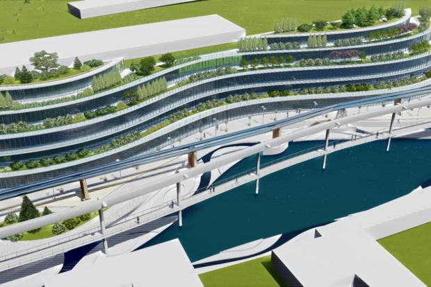 На берегу Лыбиди предлагают построить технопарк, а трубы теплотрассы покрыть зеркалами