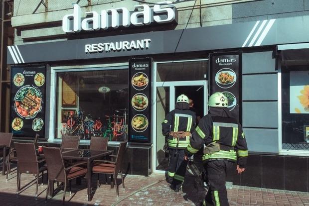 В центре Киева горел ресторан, жертв нет