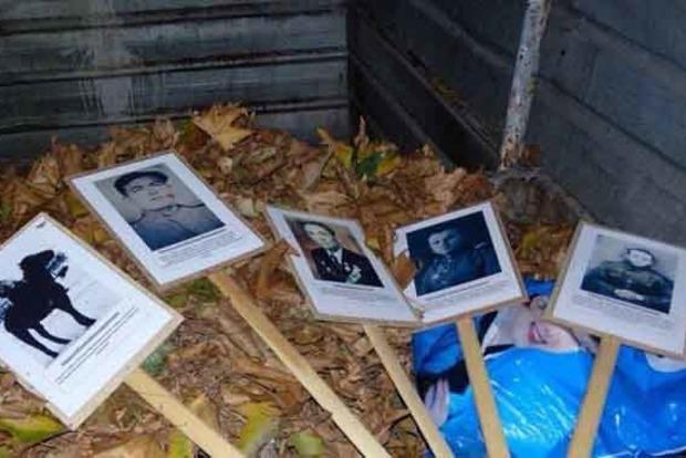 Куда девают портреты ветеранов после маршей «Бессмертного полка». Появились фото