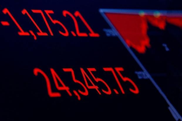 Индекс Dow Jones показал самое большое падение за всю историю