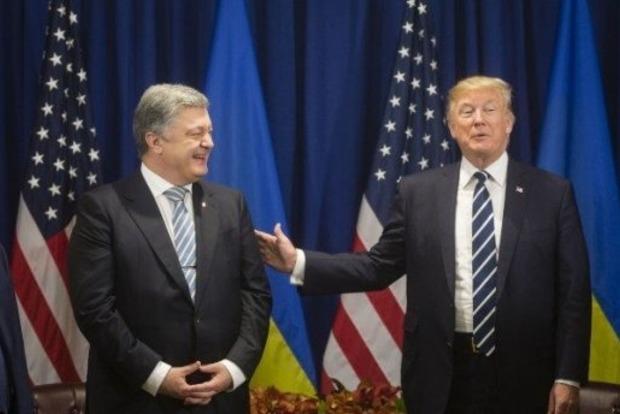 Порошенко поблагодарил Трампа за финансовую помощь