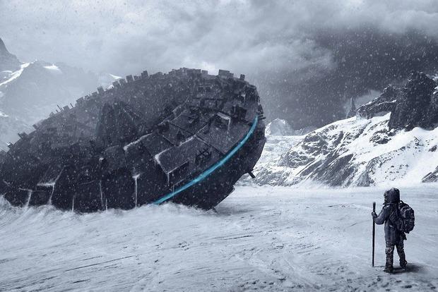 Аргентинец нашел на снегу в горах загадочные следы НЛО