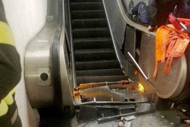 Во время обвала эскалатора в римском метро пострадали украинцы