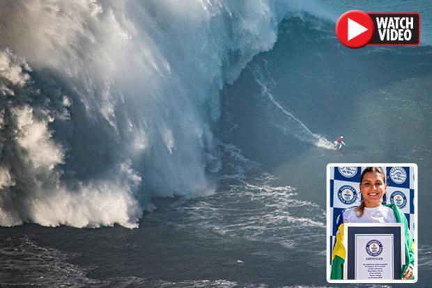 Рискуя жизнью: серфер установил мировой рекорд, оседлав 20-метровую волну