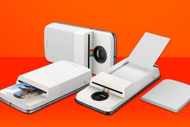 Motorola выпустила чехол, превращающий смартфон Moto Zвкамеру Polaroid