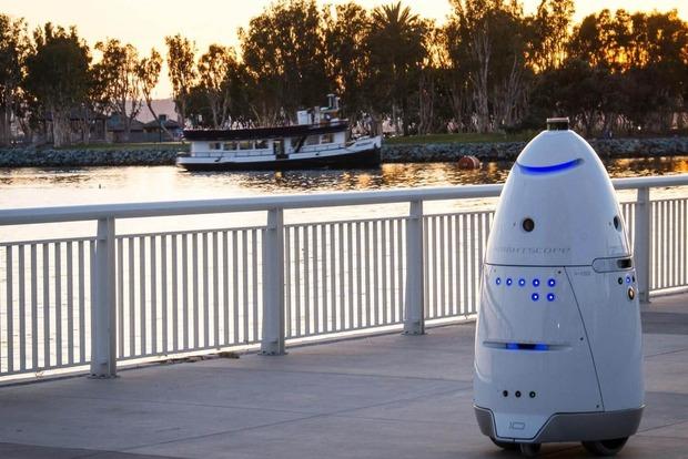 Робот-охранник утопился вфонтане