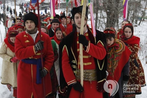 Коляда для воинов АТО и парад дидухов