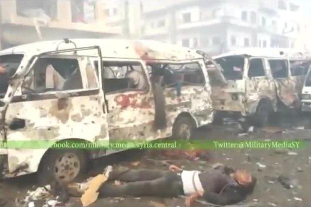Первое видео с места взрыва на юге Дамаска