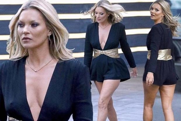 Кейт Мосс распугала целлюлитом гостей модного показа