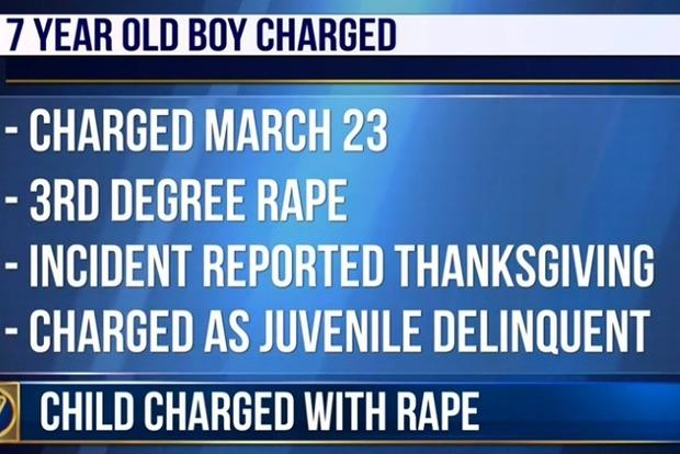 В США семилетнего мальчика обвинили в изнасиловании