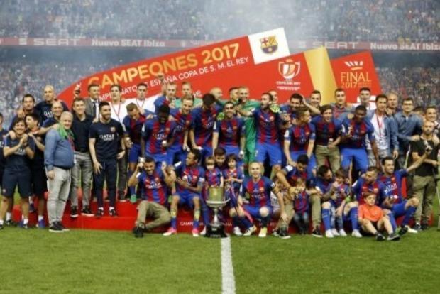Барселона в третий раз подряд выиграла Кубок Испании