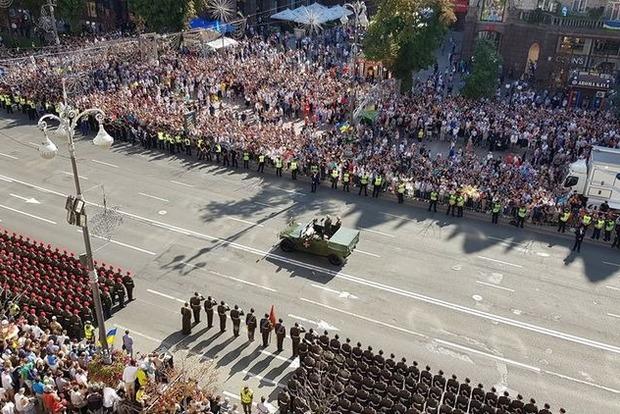 В Киеве прошел уникальный военный парад ко Дню Независимости