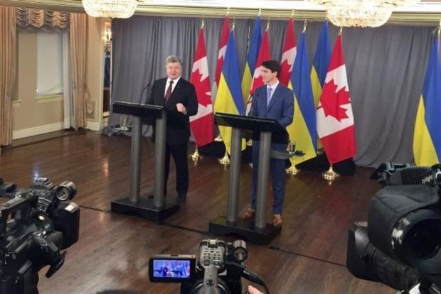 Порошенко и Трюдо сделали совместное заявление в Канаде