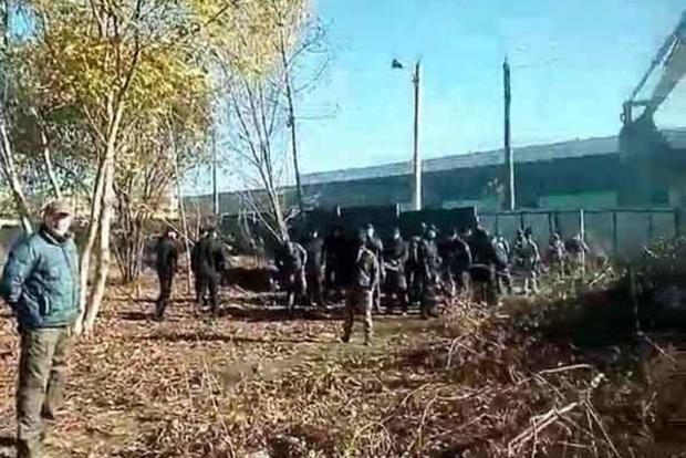 Попытка захвата воинской части в Одессе. Появилось видео
