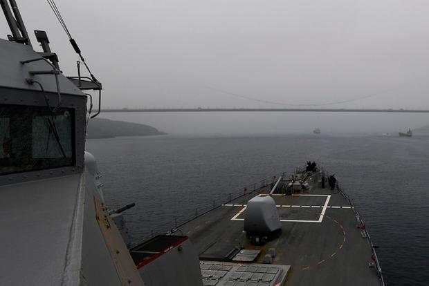 В Черное море вошел ракетный эсминец США для поддержки союзников по НАТО