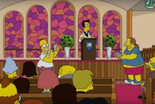 РПЦ разозлил герой мультсериала «Симпсоны», ловивший покемонов в храме