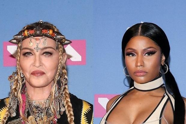 Мадонна і Нікі Мінаж поцілувалися за лаштунками MTV Video Music Award-2018