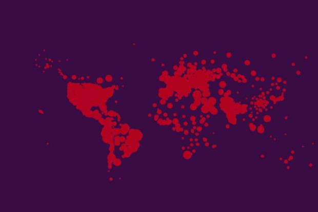 Україна тринадцята в світі по числу заражень за добу