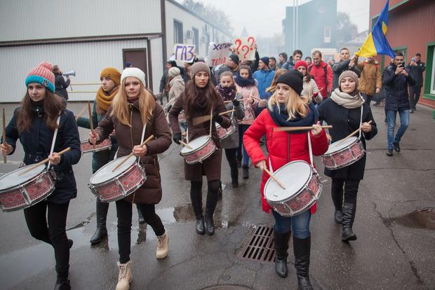 Студенти в Дніпрі мітингували проти відключення тепла у вузі