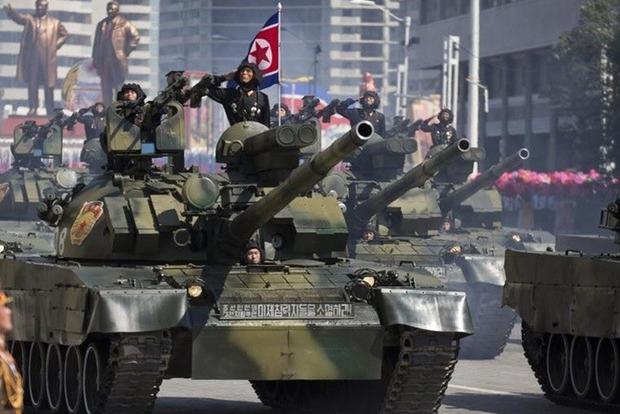 В Пхеньяне провели военный парад по случаю 70-летия КНДР