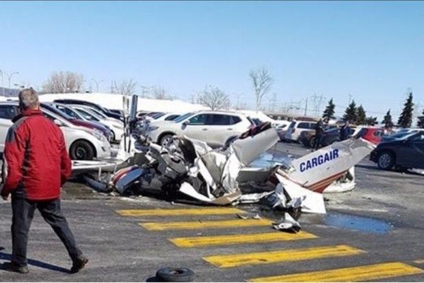 Столкновение самолетов в Канаде. Опубликовано видео