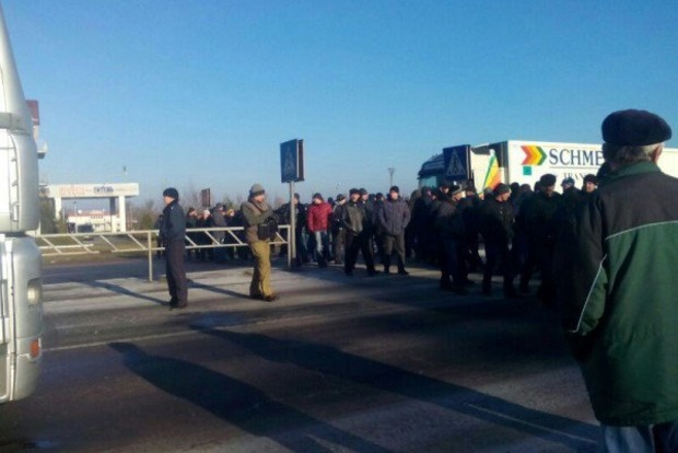 Шахтеры перекрыли трассу Киев - Ягодин