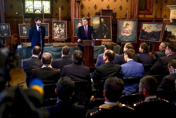 Порошенко показал похищенные из музея Вероны картины Рубенса и Пизанелло