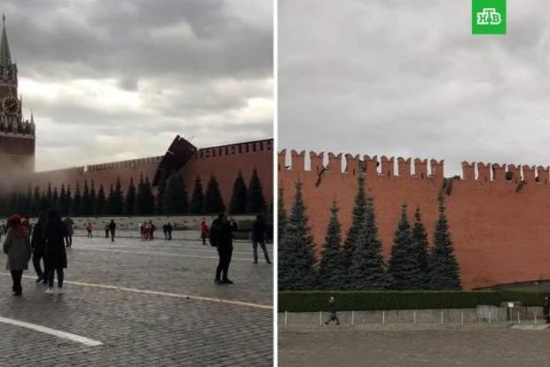 Кремль рухнул под натиском ветра