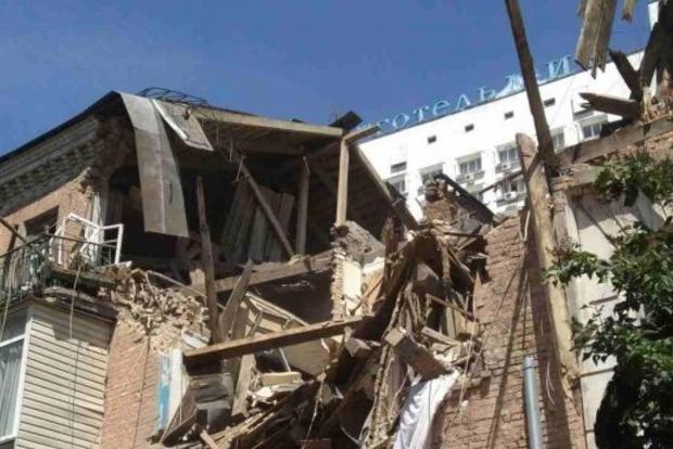 В сети появилось первое видео с места взрыва дома в Киеве