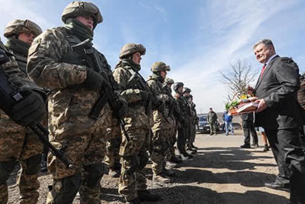 Порошенко потребовал отВСУ соблюдать перемирие вДонбассе