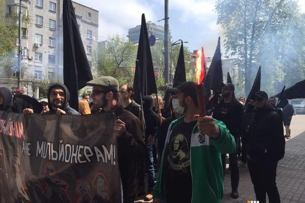 В Киеве прошли два марша – профсоюзов и анархистов