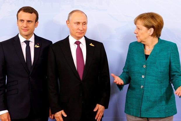Макрон, Меркель и Путин за завтраком на G20 обсуждают ситуацию на Донбассе