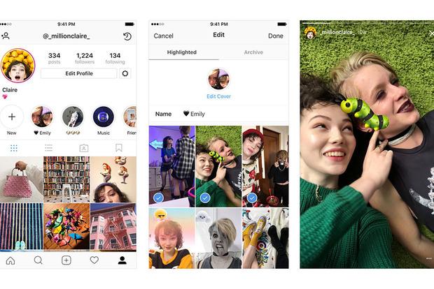 В социальная сеть Instagram сейчас можно посылать старые истории вархив