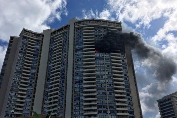 В Гонолулу произошел пожар в 36-этажном небоскребе