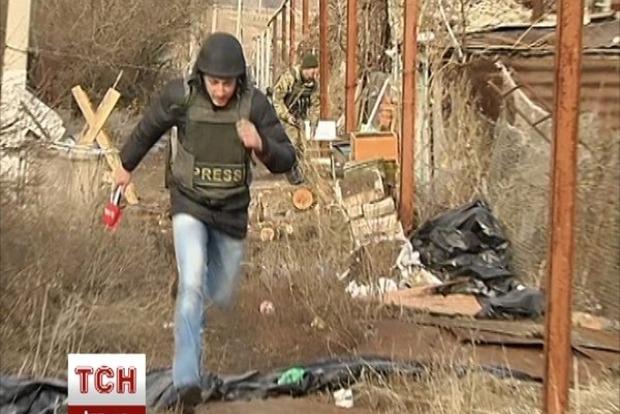 В Широкино журналисты попали под обстрел