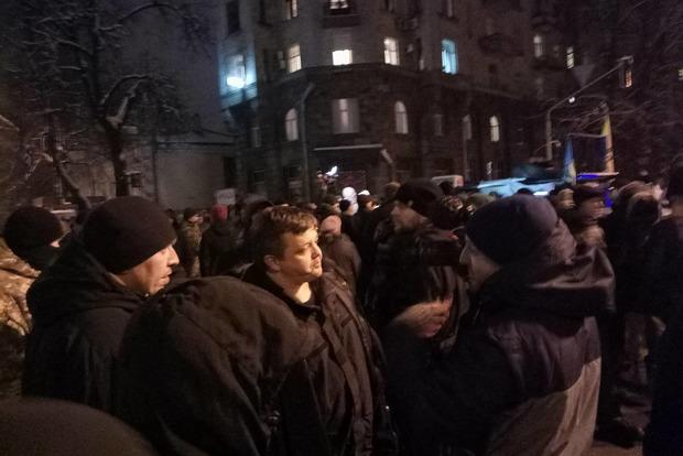 На Банковой произошла стычка между силовиками и сторонниками Саакашвили