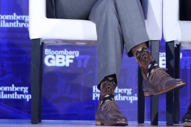 Трюдо підкорив економічний форум вНью-Йорку шкарпетками зЧубаккою