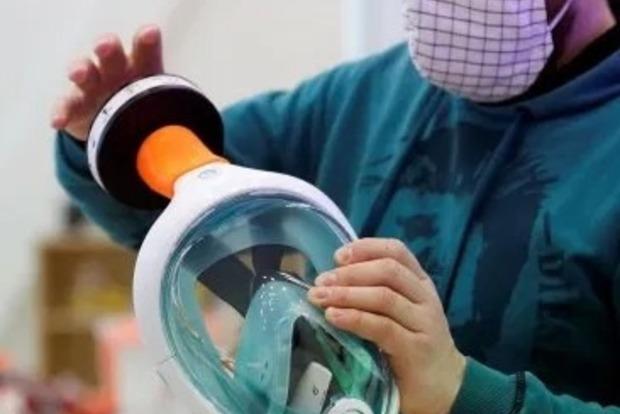Маски для аквалангов. В Украине добровольцы начали производить самую надежную защиту от коронавируса