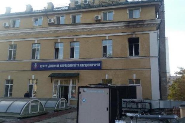 В Киеве эвакуировали более 50 детей из-за пожара в больнице