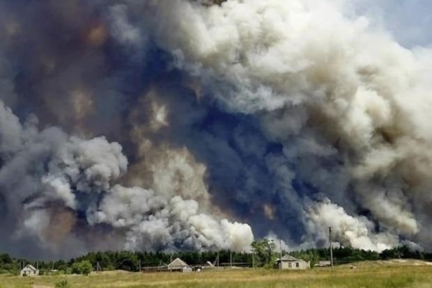 ГСЧС предоставил сводку пожара в Луганской области
