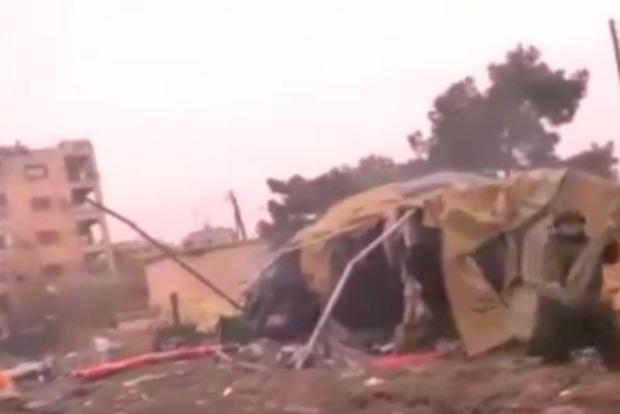 Опубликовано видео с места гибели медиков РФ в Сирии
