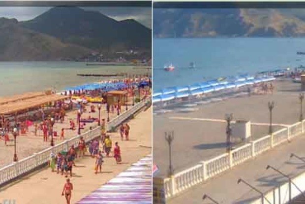 В сети сравнили фото курорта в Крыму до и после российской оккупации