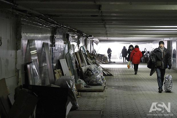 Майдан уже другой. В подземных переходах в центре Киева снесены все МАФы