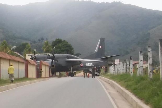 В Перу военный самолет врезался в полицейский участок