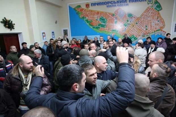 В Одессе подрались проукраинские активисты и полиция: есть задержанный