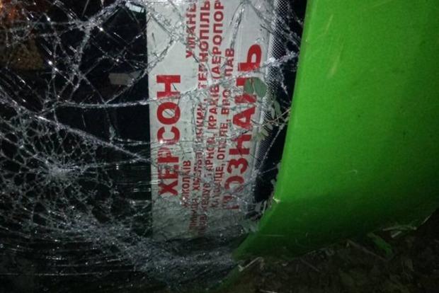 В Николаевской области международный автобус слетел в кювет