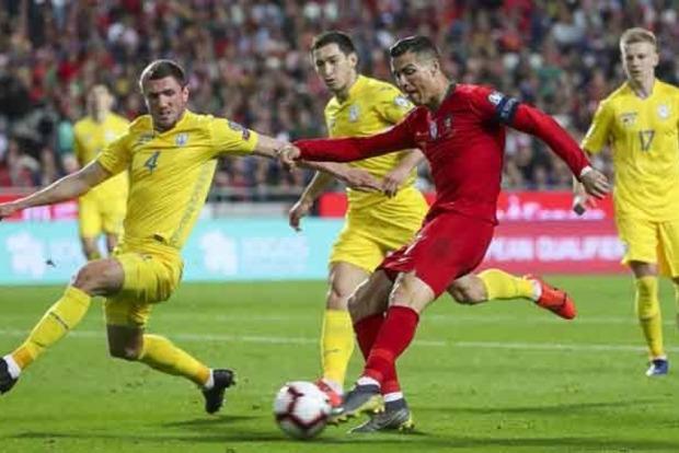 Сборная Украины завоевала ничью в матче с Португалией