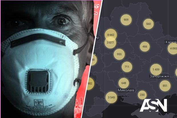 Число зараженных за сутки в Украине снова превысило тысячу человек. Резкий рост числа  заболевших в Харьковской области