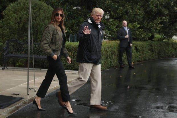 Ураган красоте не помеха: Мелания Трамп попала в «модный» скандал