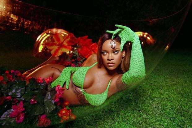 Ріанна в образі змії зняла білизну на показі білизни власного бренду